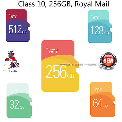 Class 10 Micro SD Card 256GB & free Adapter For Smartphones Tablets Cameras etc