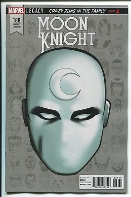 Moon Knight #188 Mike Mckone Head Shot Variant Cover - Marvel Comics/2017