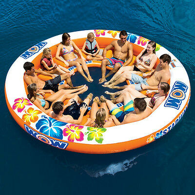 WOW Stadium Islander Floating Party Island 12 Person River Lounger