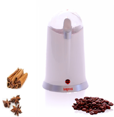 Black Electric Whole Coffee Bean Nut Spice Blade Grinder Blender Espresso 160W