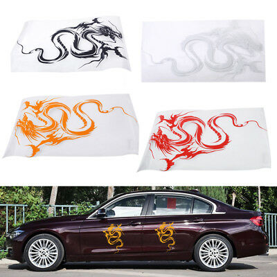 Vinyl Car Hood Dragon Graphic Sticker Body Wrap Racing Sport Decal Reflective