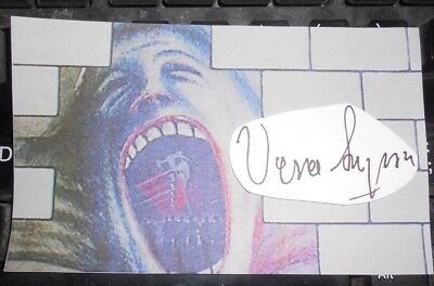VERA LYNN PINK FLOYD THE WALL 3x5 SCREAMING FACE AUTOGRAPHED
