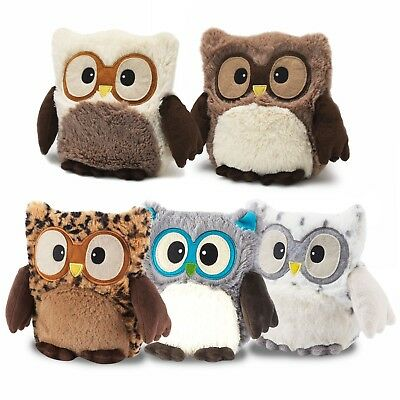 Intelex Warmies Hooty Owl Microwavable Fur Warm Heated Warm Soft Toys Gift