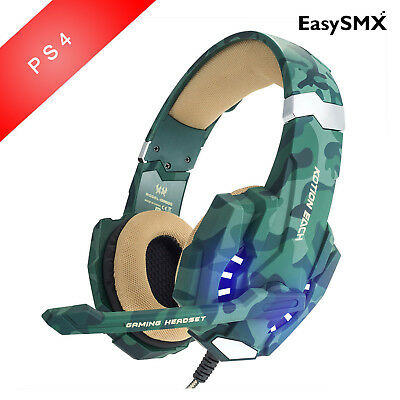 Original Gaming Headset 3.5mm PC PS4 Camouflage Stereo Noise Isolation with Mic