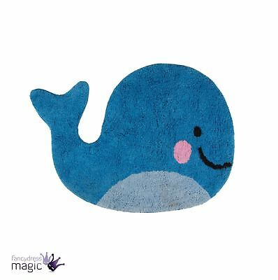 Sass Belle Cute Baby Happy Whale Floor Rug Home Bedroom Nursery Gift Decoration