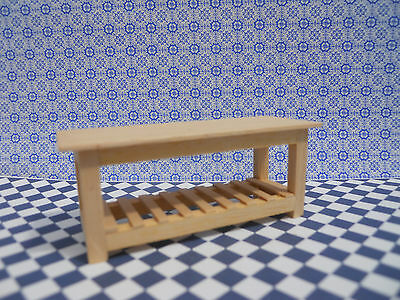 Dolls House Miniature Furniture In 1/24 Scale Large Table Handmade
