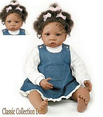 "Ashton Drake ""JASMINE AT 1.5 YEARS"" LIFELIKE 26"" BABY GIRL DOLL -NEW-IN STOCK !"