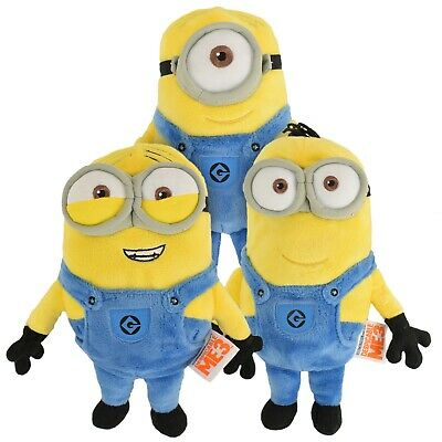 New Despicable Me Minions Microwave Heated Warm Soft Cuddly Kids Plush Toy