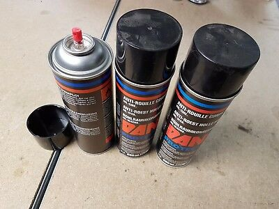 Lot 3 Bombes Anti rouille corps creux pulverisable 0.5 litre, ref 1205B/B