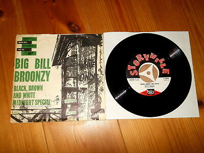"Big Bill Broonzy - 7"" Single - Black, Brown And White - Midnight Special"