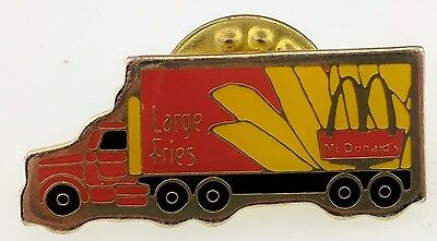 McDonald's Pin Large Fries Truck Semi Crew Employee Collectable Golden Arches