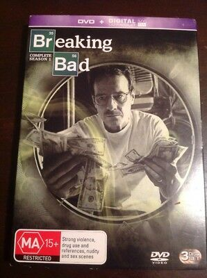 BREAKING BAD The Complete Season 1 New Unsealed 3 DVDs R4