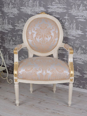 French Armchair Baroque Chair Livingroom Furniture
