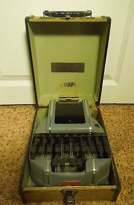 Vintage S-M Stenograph Reporter Model from Short Hand Machine W/ Carrying Case