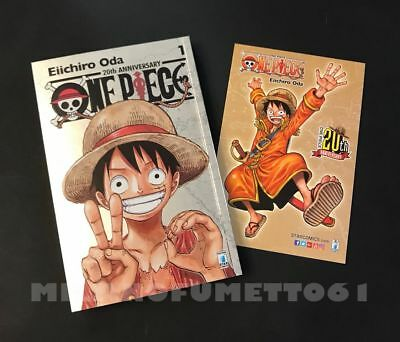 ONE PIECE 1 SILVER 20th Anniversario Limited Edition + cartolina GOLD