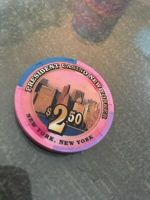 President New Yorker $2.50 Casino Chip New York Snapper