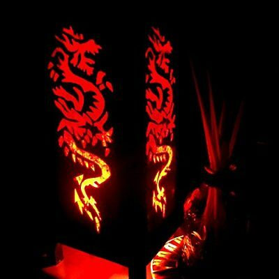Rising Fire Red Dragon Table Lamp Lighting Shades Floor Desk Outdoor Touch Room