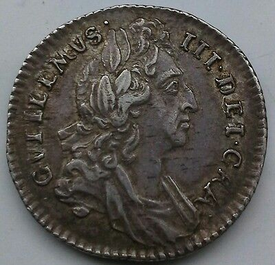 **superb 1696 William Iii Sixpence**