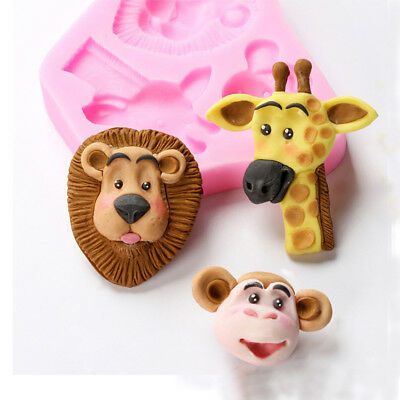 Popular Animals Shape Silicone Mold Baby Shower Biscuit Mould Cookie Cutter Tool
