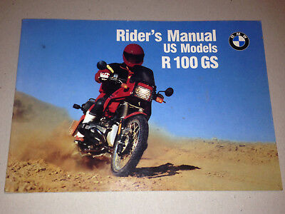 Bmw R80 R100 R 80 100 Gs Rider's Manual Us Models Ab 1€!!!!!!!!!!!!!!!!!!!!!!!!!