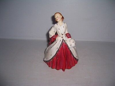 "Royal Doulton ""The Ermine Coat"" Lady Figurine HN 1981 Copr 1945 RdNo 842488"