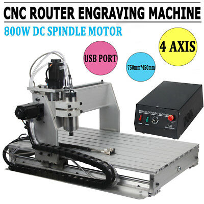4 Axis Engraver Usb Cnc6040D Router Engraving Drilling Milling Machine Woodwork