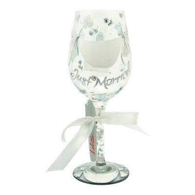Lolita Personalise It Wine Glass Just Married Wedding Gift Present Boxed New