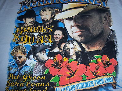 2007 FLIP FLOP SUMMER TOUR t shirt-KENNY CHESNEY brooks & dunn SUGARLAND-NEW-(M)