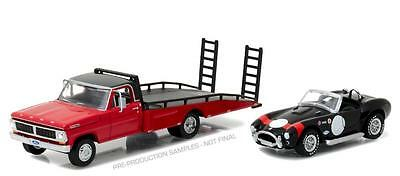 Greenlight 1:64 H.d. 1970 Ford F-350 Ramp Truck & Shelby Cobra 427 Sc 33080-B