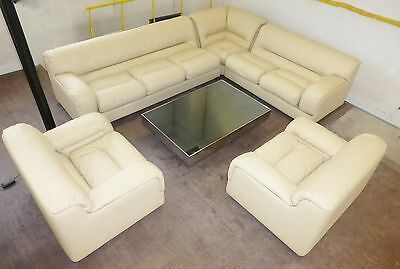 Ammannati & Vitelli : Ed. Rossi Di Albizzate Sofa Sofa Leather 8 Seats 1973