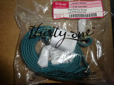 THIRTYONE Thirty One Gifts 31 Skinny Strap RETIRED Teal Affair Pebble BRAND NEW