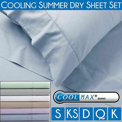 COOLMAX SHEET SET Cotton Quick Dry Cold Summer Cool Rich Drying Soft Cooling