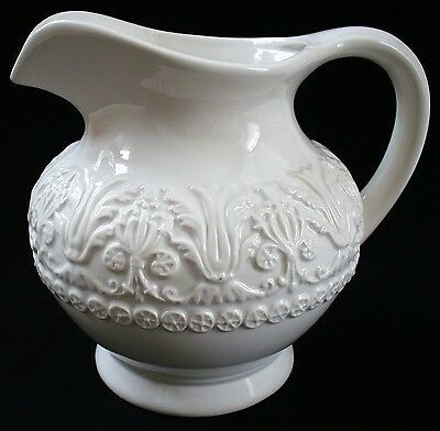 """WHITE~CERAMIC~NEO-CLASSICAL STYLE~PITCHER by CERAMICA STEFAN~Italy~Nice~7"""" tall"""