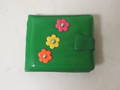 Vintage 1960s GROOVY MOD Day-glo WALLET UNUSED PSYCHEDELIC COLOR Green