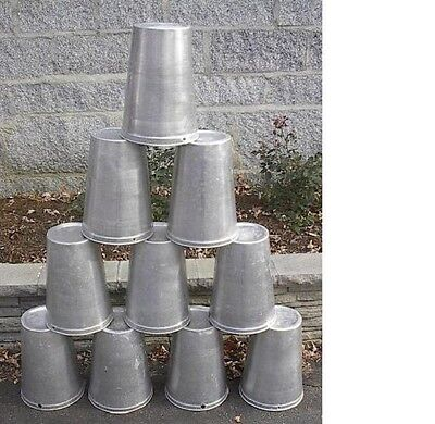 Lot of 12 Maple Syrup Aluminium  Sap Buckets READY TO USE TO GATHER SAP!!