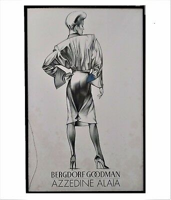 George Stavrinos : illustration for Bergdorf Goodman POSTER* 1982