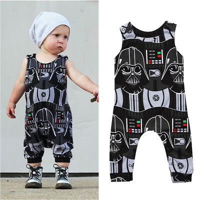 Toddler Kids Baby Boys Star Wars Romper Bodysuit Jumpsuit Clothes Outfits 0-3Y