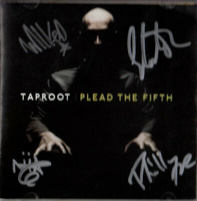 Taproot Autographed Signed x4 Plead The Fifth CD Cover UACC RD C AFTAL