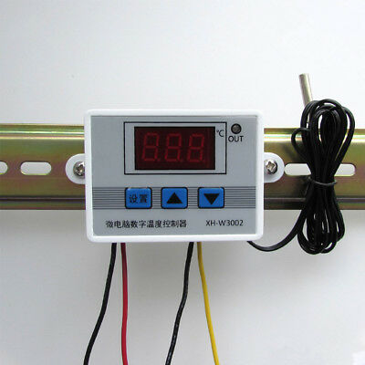 Digital 12V/24V/220V LED Temperature Controller Switch Probe Thermostat Control
