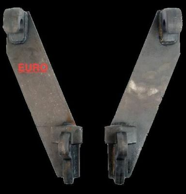 EURO QUICK HITCH BRACKETS (PAIR), Tractor Implement weld on hitches