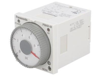 PM4HM-H-24VW Timer 0,1s÷500h DPDT 250VAC/5A 24VAC 24VDC socket, on PANASONIC EW