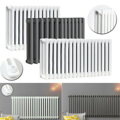 3 Column Central Heating Traditional White Anthracite Vintage Cast Iron Radiator