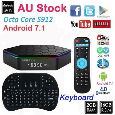 T95z Plus Octa Core Android 7.1 S912 Smart TV Box  5GWifi HDMI 4K 3D Keyboard AU