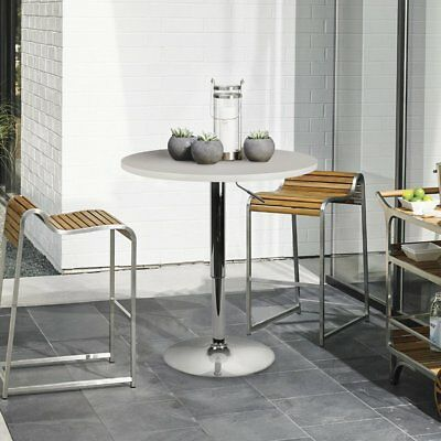 """Adjustable Round Dining Bar Table, 360 Swivel Pub Table w/ MDF Top, 23.6"""" Top"""