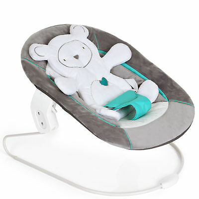 New Hauck Hearts Grey Alpha 2 In 1 Alpha Baby Bouncer Highchair Seat From Birth