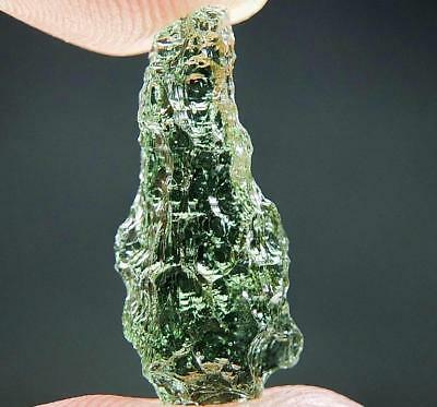 Very Glossy - RARE Moldavite quality A+ with Poisonous green color
