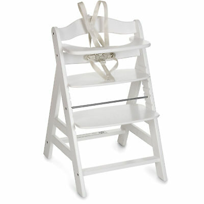 Hauck White Alpha+B Grow With Your Child Wooden High Chair With Safety Harness