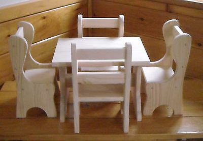 Handmade Farmhouse Table and 4 Chairs for 18 inch doll & HANDMADE FARMHOUSE TABLE and 4 Chairs for 18 inch doll - $80.00 ...