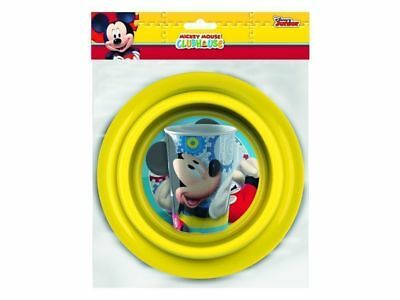 Disney Mickey Mouse Clubhouse Mealtime Set Complete with Cup, Bowl and Plate NEW