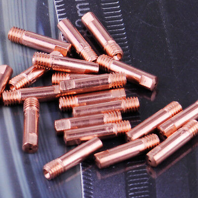 20x Thread M6 Contact Tips 0.9mm Gas Nozzle Copper For MB-15AK MIG Welding Torch